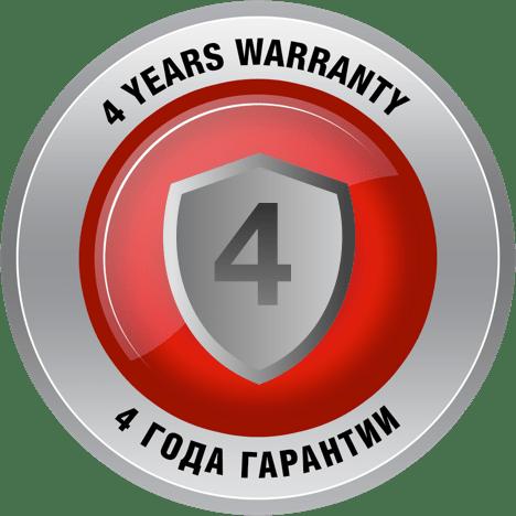 4 года гарантии