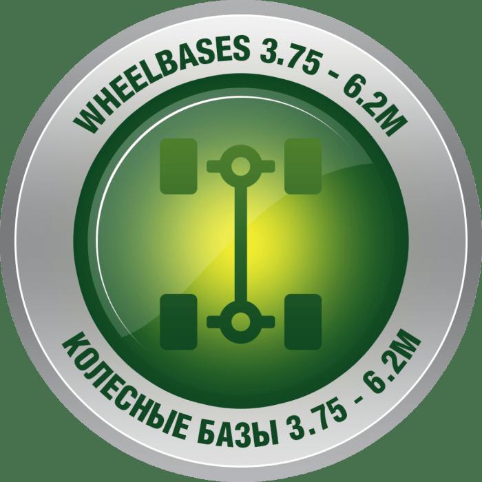 колесные базы от 3.75 до 6.2 метров