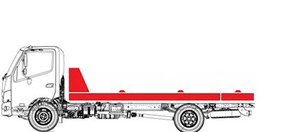 Эвакуатор со сдвижной платформой