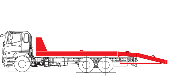 Эвакуатор со стационарной платформой
